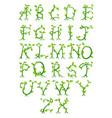 plant alphabet letters vector image