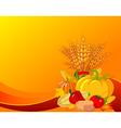 plump pumpkins vector image vector image