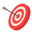 red archery target icon isometric style vector image