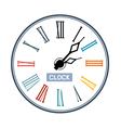 Retro Abstract Clock Face vector image vector image