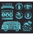 Retro elements for Summer surfing designs