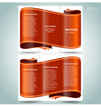 ribbon brochure design template vector image