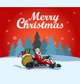 santa racer christmas greetings vector image vector image
