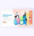 scaling business graphic or chart entrepreneurs vector image vector image