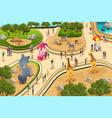 scene in a zoo vector image vector image
