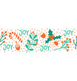 seamless christmas border hand drawn vector image