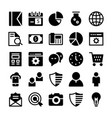 seo and marketing solid icons 1 vector image vector image