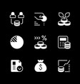 set glyph icons investment vector image vector image