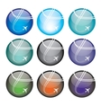 Set of airplane sphere icons vector image vector image