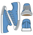 set with colored sneakers vector image vector image