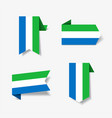 sierra leone flag stickers and labels vector image vector image