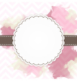 Template of pink and brown greeting card vector image vector image