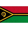 Vanuatu paper flag vector image vector image