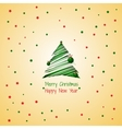Vintage holiday card with Christmas tree vector image