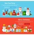 Winter Holidays Website Banners vector image vector image
