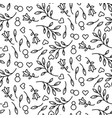 black line floral 8 march seamless pattern vector image