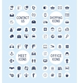 Internet Business Office and Shopping Icons Set