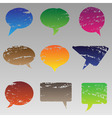 abstract grunge speech bubbles vector image