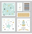 Cute cards with gold confetti glitter for kids vector image