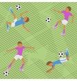Seamless pattern soccer match vector image
