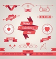 Valentines Day set design elements vector image