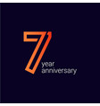 7 year anniversary celebration template design vector image vector image