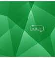 Abstract background green triangle vector image vector image