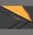 abstract yellow triangle on grey metallic overlap vector image vector image