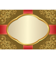 antique background with golden floral ornaments vector image
