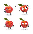 apple cartoon character vector image