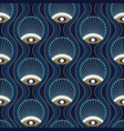 art deco seamless pattern design with nouveau vector image vector image