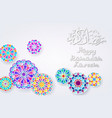 background with arabic colorful patterns vector image