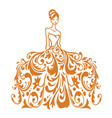 beauty bridal wear boutique wedding gown logo vector image vector image