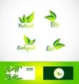Bio organic eco product logo vector image vector image