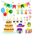 birthday party colorful vector image vector image