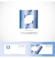 Blue square logo vector image