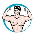 bodybuilder man vector image vector image