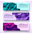 bright colors set banners polygonal low poly vector image vector image