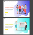 business training people discussing problems vector image vector image