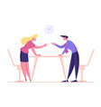 business woman and man arguing and having fight vector image vector image