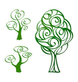 Calligraphic trees vector image vector image