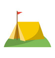 camping tent with flag vector image