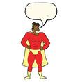 cartoon superhero with speech bubble vector image