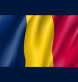 chad realistic flag vector image