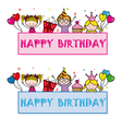 children celebrating a birthday party vector image vector image