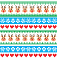 Christmas pattern with reindeer pattern vector image vector image