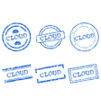 Cloud stamp vector image