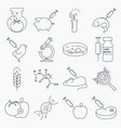 collection of genetic modification outline icons vector image vector image