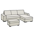 comfortable big light couch vector image vector image