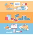 Concept of Planning and Organization Travel vector image vector image